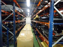 Large stock of spare parts - Automotive